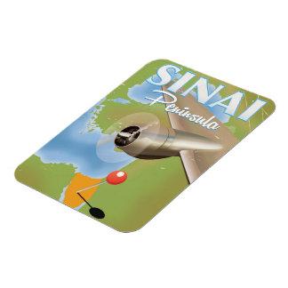Sinai Peninsula Flight travel poster Magnet