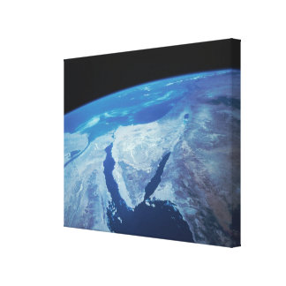 Sinai Peninsula from Space Canvas Print