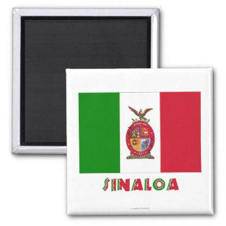 Sinaloa Unofficial Flag Square Magnet