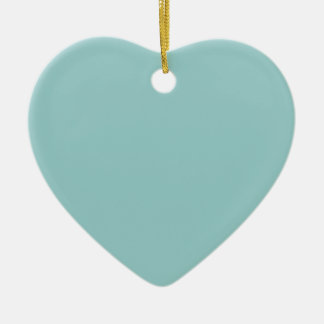 Sinbad Teal Aqua Save the Date Heart Ornament