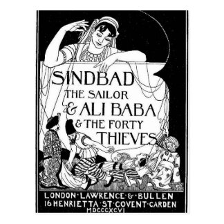 Sinbad the Sailor Cover Postcard