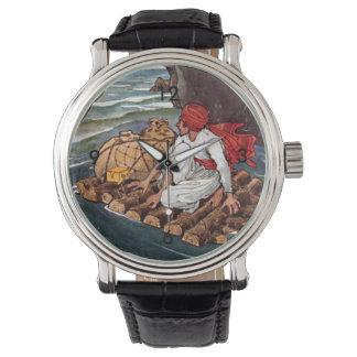 Sinbad the Sailor Shipwreck Treasure Illustration Watch