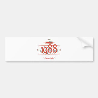 Since 1988 (Red&Black) Bumper Sticker