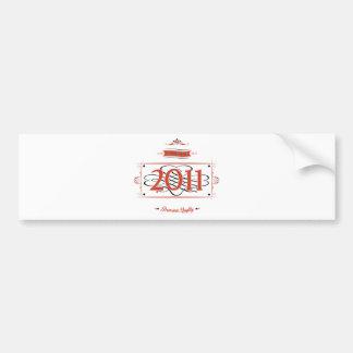 Since 2011 (Red&Black) Bumper Sticker