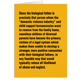Since The Biological Father Is Precisely … Greeting Card
