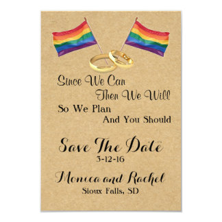 Since We Can:  Lesbian Wedding Save The Date Cards 9 Cm X 13 Cm Invitation Card