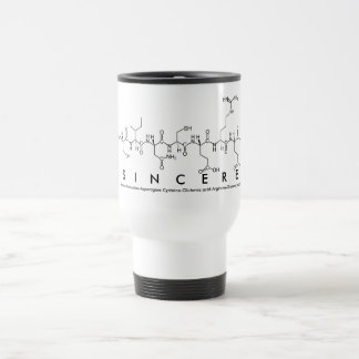 Sincere peptide name mug