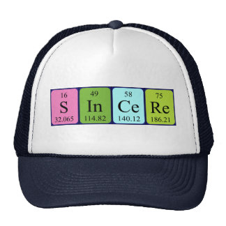 Sincere periodic table name hat