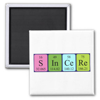 Sincere periodic table name magnet