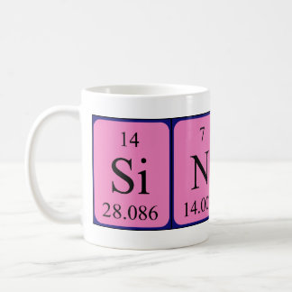 Sincere periodic table name mug