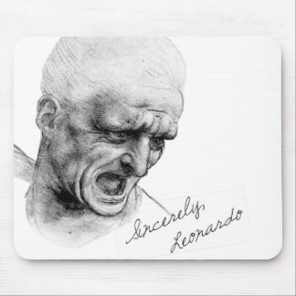 """Sincerely Leonardo """"Old Man"""" Mouse Pad"""