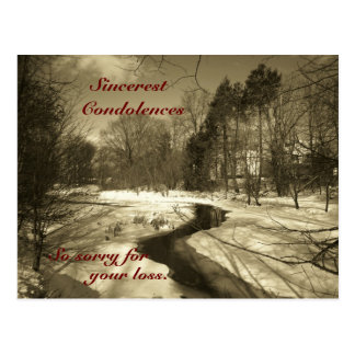 Sincerest Condolences Post Card