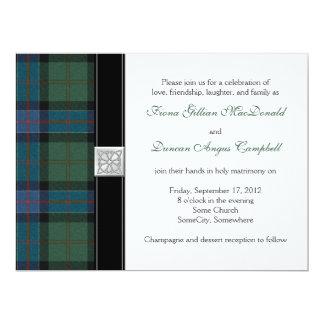 "Sinclair Ancient Hunting Tartan Wedding Invitation 6.5"" X 8.75"" Invitation Card"
