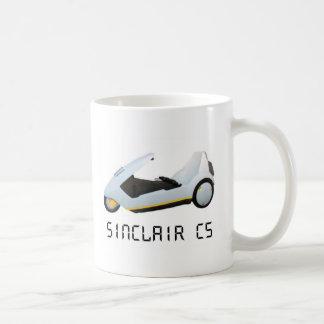 SINCLAIR C5 RETRO CAR BASIC WHITE MUG