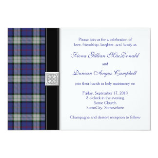 Sinclair Dress Tartan Wedding Invitation