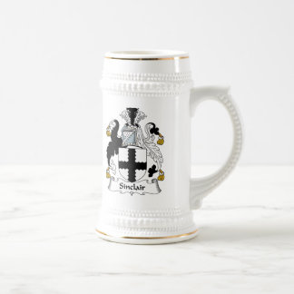 Sinclair Family Crest Beer Stein