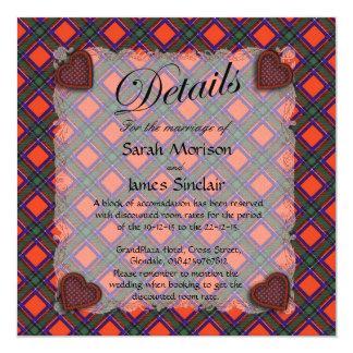 Sinclair Scottish clan tartan - Plaid 13 Cm X 13 Cm Square Invitation Card