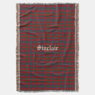 Sinclair Tartan Plaid Custom Throw Blanket