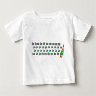 Sinclair ZX Spectrum Keyboard Keys Baby T-Shirt