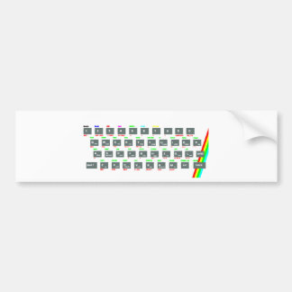 Sinclair ZX Spectrum Keyboard Keys Bumper Sticker