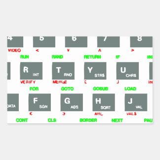 Sinclair ZX Spectrum Keyboard Keys Rectangular Sticker