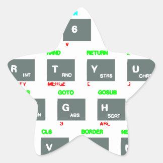 Sinclair ZX Spectrum Keyboard Keys Star Sticker
