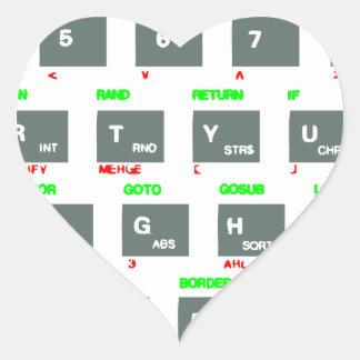 Sinclair ZX Spectrum Keyboard Keys Heart Stickers