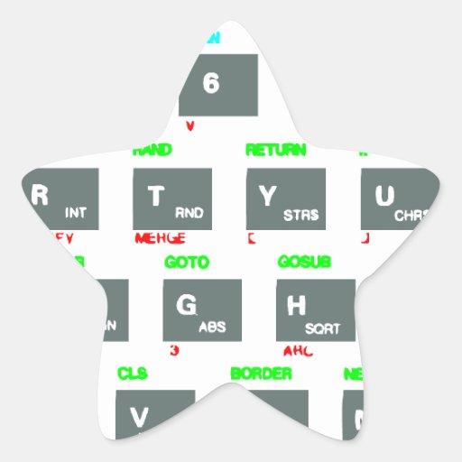 Sinclair ZX Spectrum Keyboard Keys Star Stickers