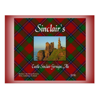 Sinclair's Castle Sinclair Girnigoe Ale Postcard