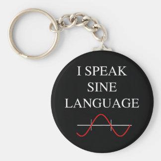 Sine Language Basic Round Button Key Ring