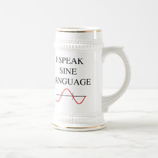Sine Language Beer Stein