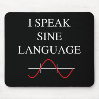 Sine Language Mouse Mat