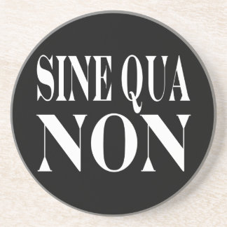 Sine Qua Non Famous Latin Quote: Words to live By Sandstone Coaster