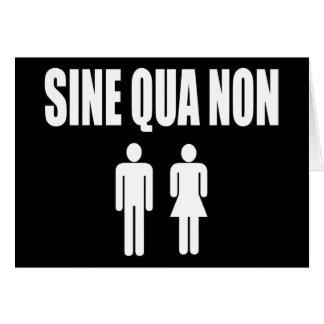 Sine Qua Non Romantic Latin Quote Valentine's Day Greeting Cards