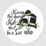 Sinful Hats Round Stickers