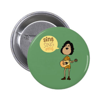 Sing 6 Cm Round Badge