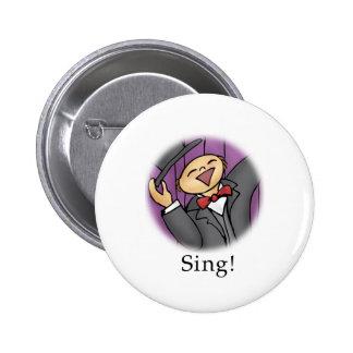 Sing! 6 Cm Round Badge