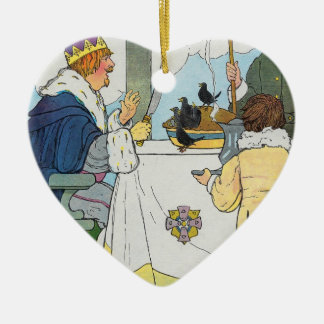 Sing a song of sixpence, A pocket full of rye Ceramic Heart Decoration