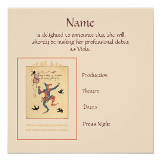 Sing a Song of Sixpence Announcement 13 Cm X 13 Cm Square Invitation Card