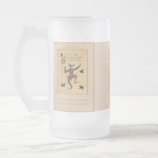 Sing a Song of Sixpence Frosted Glass Mug
