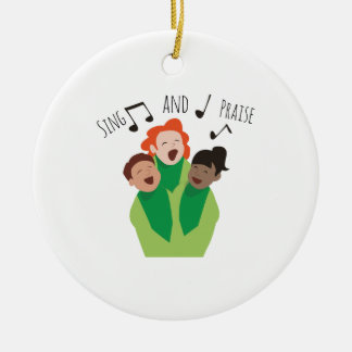 Sing and Praise Round Ceramic Decoration