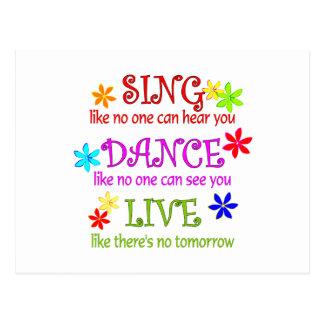 Sing Dance Live Postcard