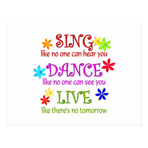 Sing Dance Live Post Cards