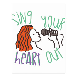 Sing & Heart Out Postcard
