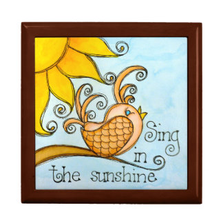 Sing In The Sunshine Large Square Gift Box