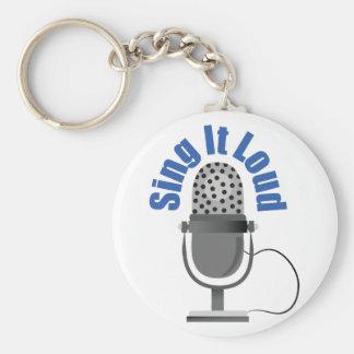 Sing It Loud Keychains