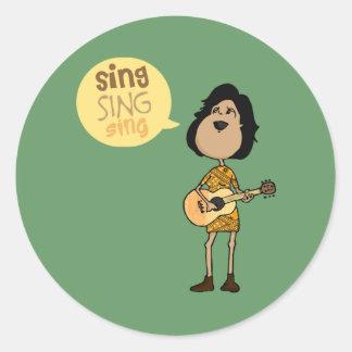 Sing Round Sticker