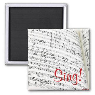 Sing! Square Magnet