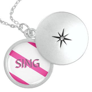 Sing Trendy Pink Locket Necklace