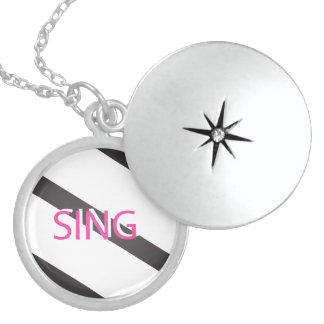 Sing Trendy Pink Sterling Silver Necklace